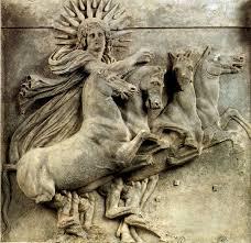helios emerge dal mare met. raffigurante ang nord-est t. di Atena a Troia H Schliemann 1872 , IV ...