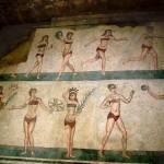 mosaico dieci ragazze piazza armerina