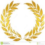 corona d'alloro dorata