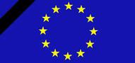 bandiera europea a lutto
