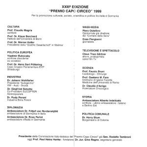 1999 PEC a Vladmir Bukovky. Magris, Ostellino, Indelicato def